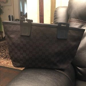Gucci black Monogram Handbag